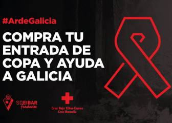Eibar to donate Copa gate to victims of Galicia wildfires
