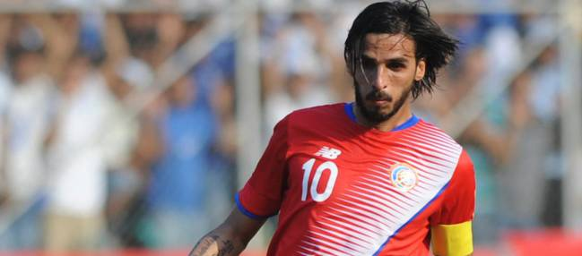 Bryan Ruiz, the star of the Costa Rica team