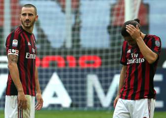 Milan drop more points and have Bonucci sent off