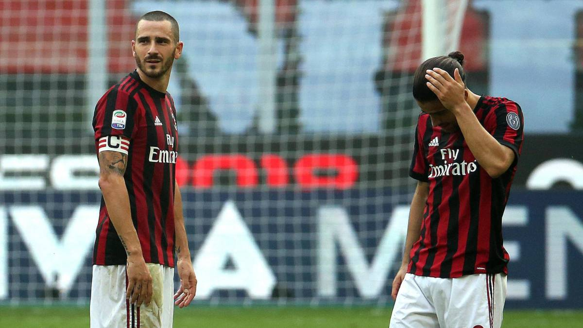 AC Milan drop more points and have Bonucci sent off
