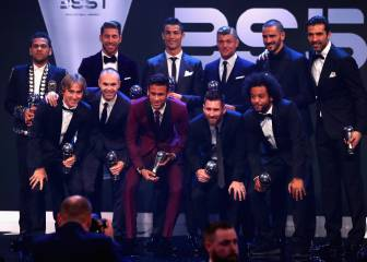Cinco del Madrid y tres del Barça en el XI de 'The Best'