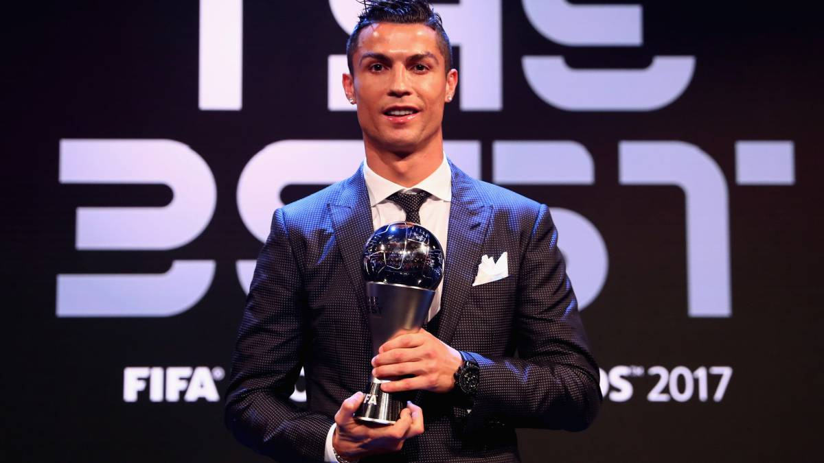 Cristiano Ronaldo is The Best as he claims second award at FIFA ceremony in London