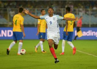 Brewster hat-trick takes England to World Cup final
