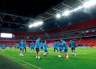 Zidane's Real Madrid get familar with Wembley