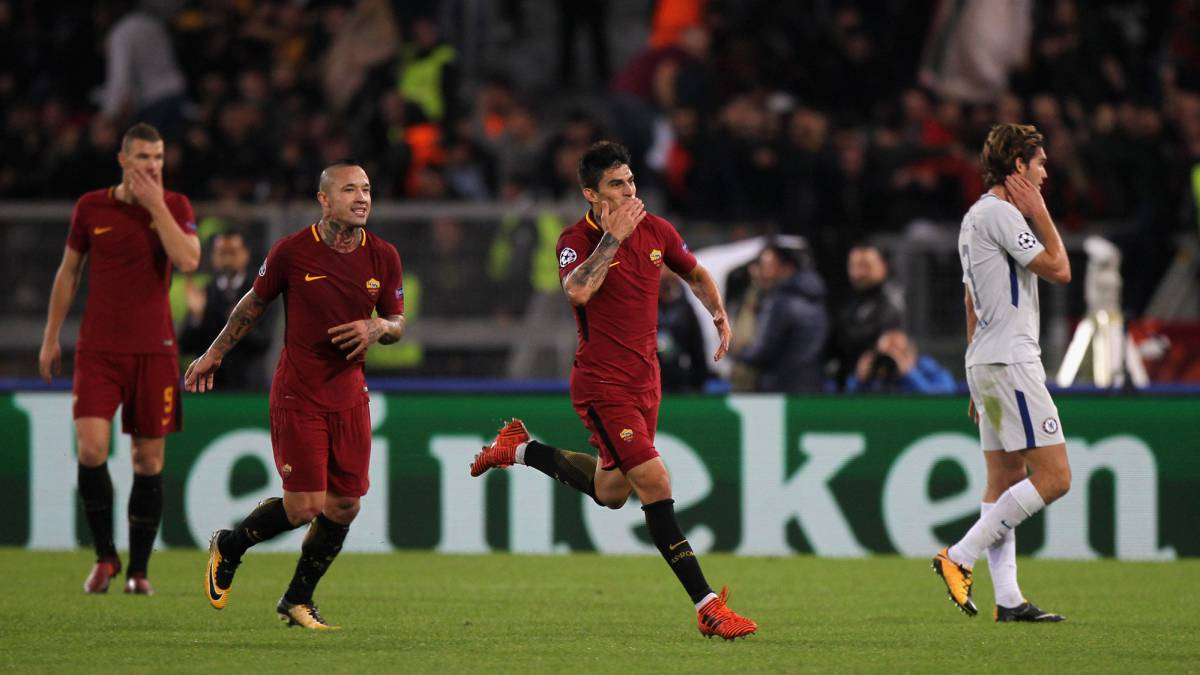Roma rout deficient Chelsea as El Shaarawy takes them top