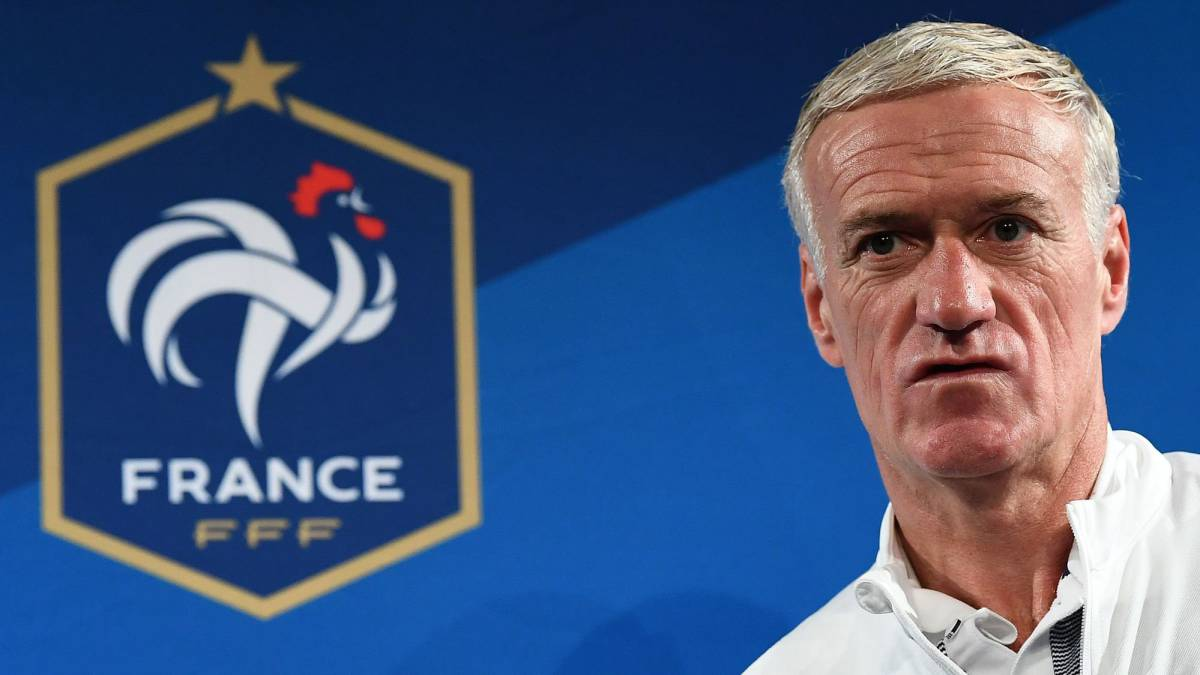 Didier Deschamps en el Stade de France.
