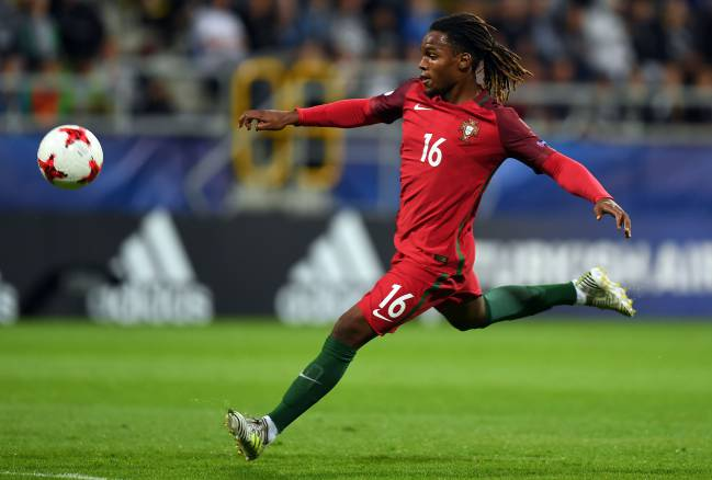 Renato Sanches con Portugal.