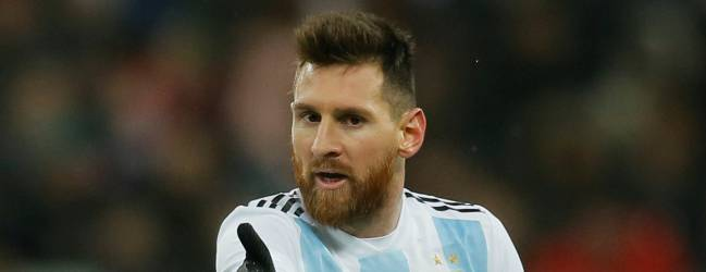Lionel Messi the star of the Argentina team