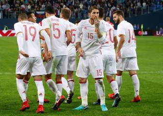 Russia 3-3 Spain in pictures