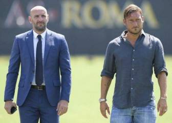 Monchi explains his legs were trembling when he told Totti to retire
