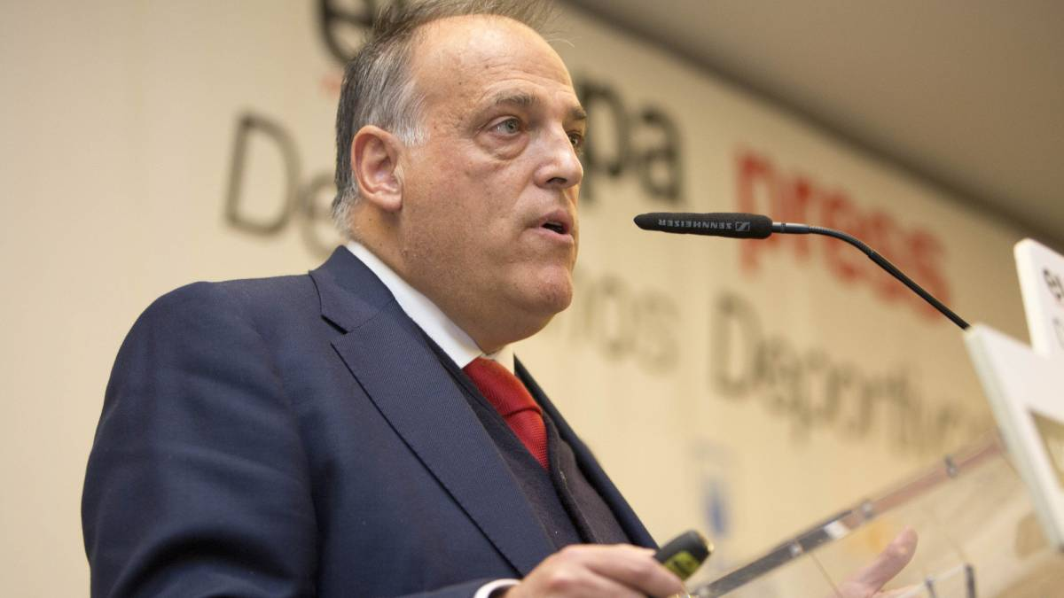 "Tebas: ""I would change the law to suspend the Copa del Rey final if the anthem is whistled"""