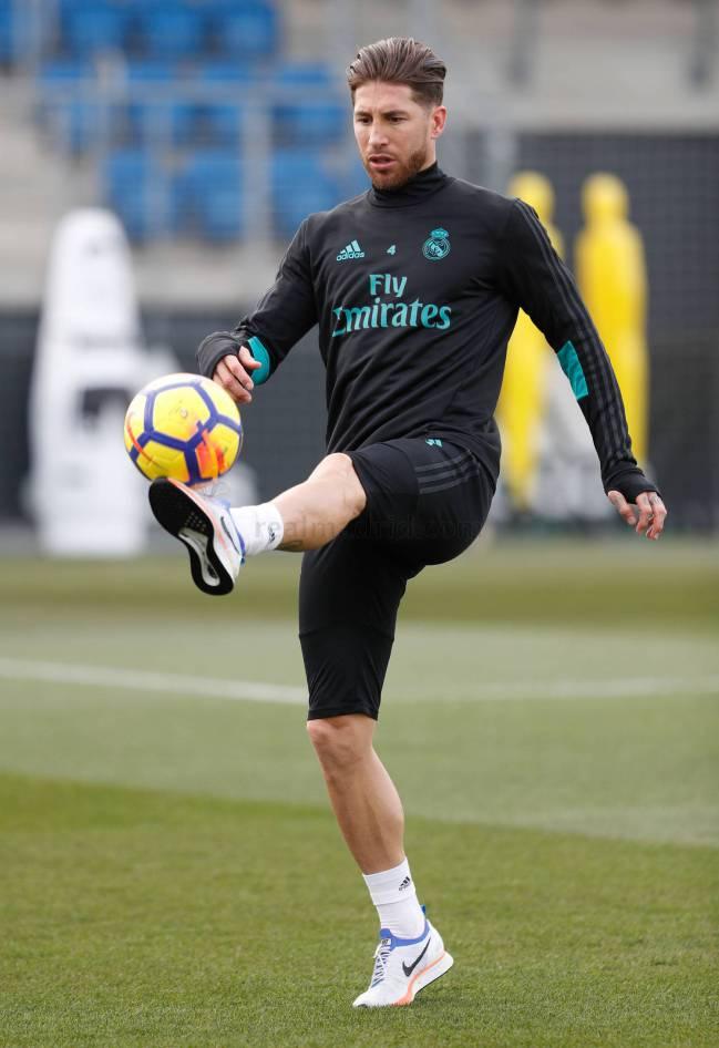 Sergio Ramos, aún sin máscara.