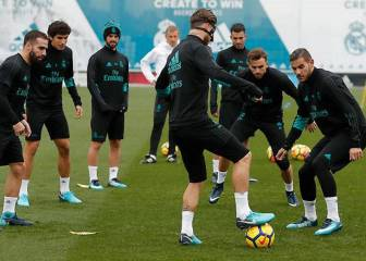 Bale returns to Real Madrid training, Asensio absent