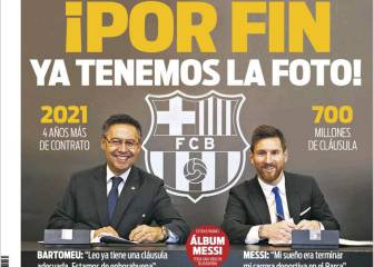 Long-awaited Messi pic dominates Catalonia's Sunday papers