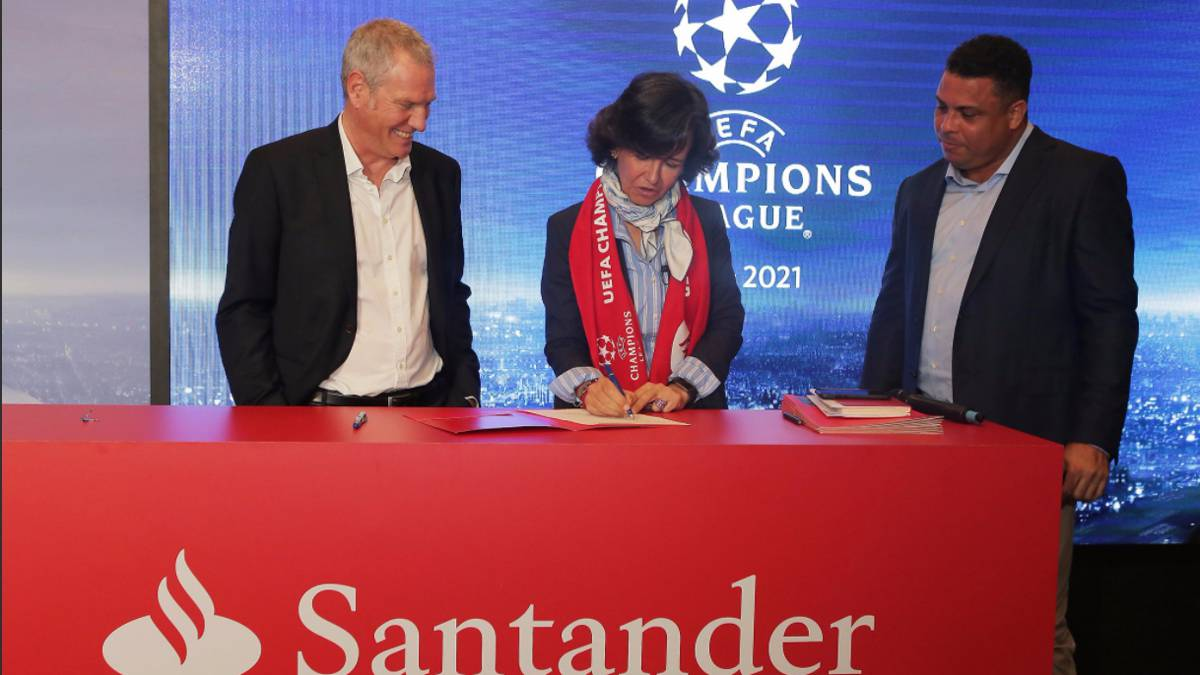 Banco Santander, nuevo patrocinador de la Champions League