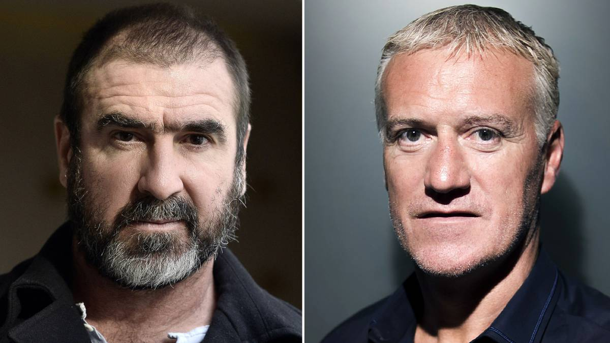 Eric Cantona y Didier Deschamps.