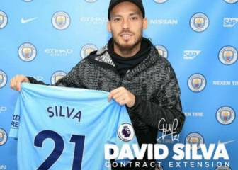 David Silva renueva hasta 2020 en el City de Claudio Bravo