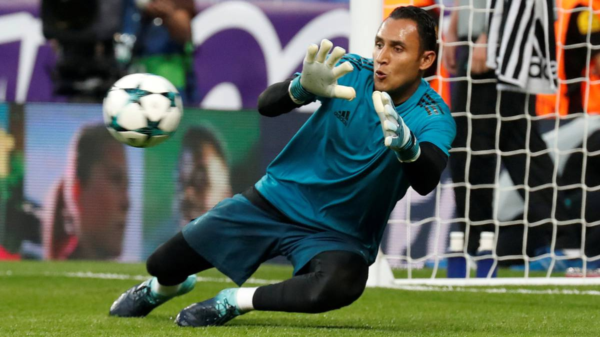 El guardameta costarricense del Real Madrid, Keylor Navas.