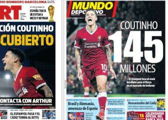 Liverpool's Coutinho valued at 145 million euros for Barcelona