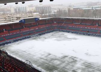 LaLiga: first snows of winter blanket Spanish stadiums