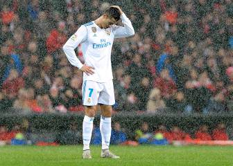 Missed chances and Ramos sent off in the rain in Bilbao