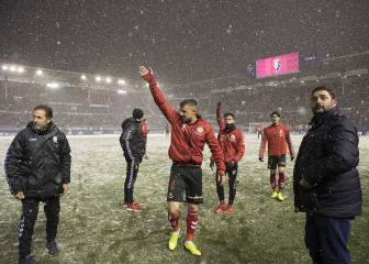 Osasuna demand default win after snow halts Nástic game
