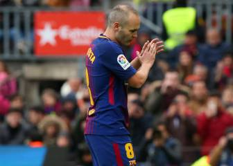 Calf injury rules Iniesta out of Sporting Lisbon game