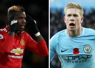 De Bruyne and Pogba get stuck in ahead of Manchester derby