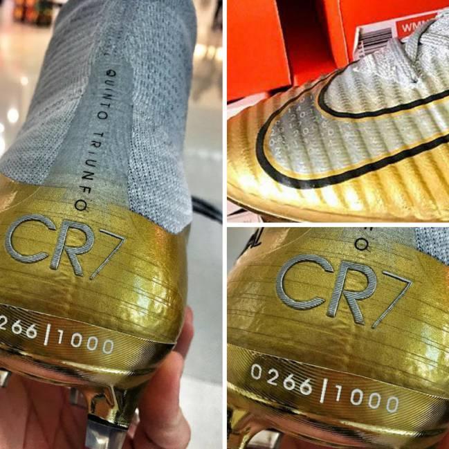 Las Nike Mercurial Superfly V 'Quinto triunfo' Special Edition de Cristiano Ronaldo.