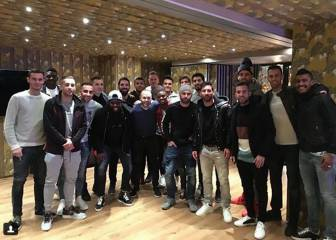 Barça players celebrate team lunch at Messi's restaurant