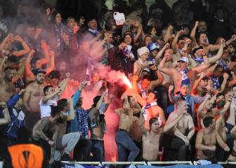 Real Sociedad president accuses Zenit staff of helping smuggle flares to ultras