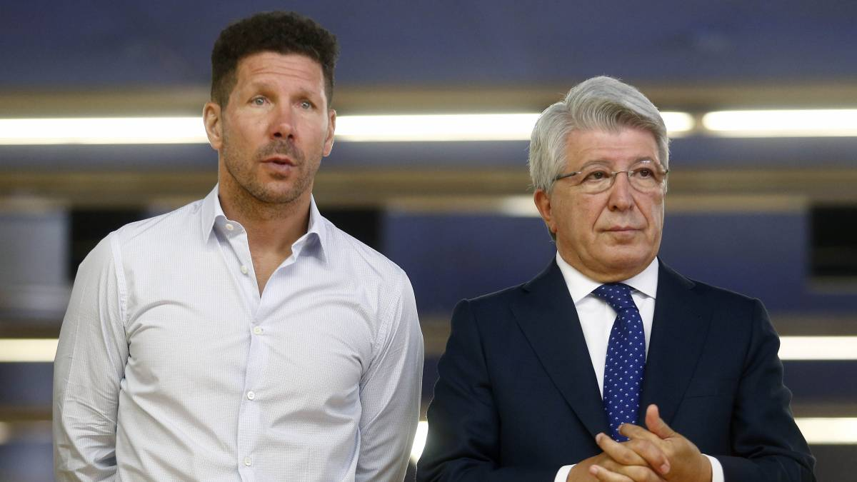 Simeone y Enrique Cerezo.