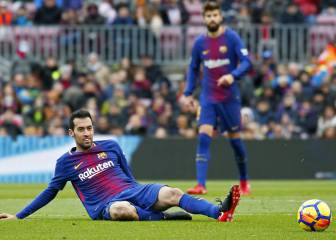 11 yellows for Busquets in 23 games with Antonio Mateu in charge