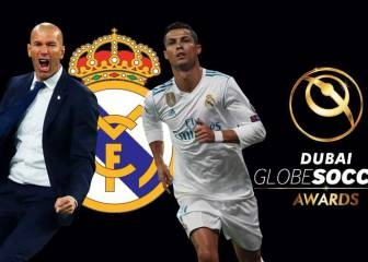 Ronaldo, Real Madrid, and Zidane win at Globe Soccer 2017 awards