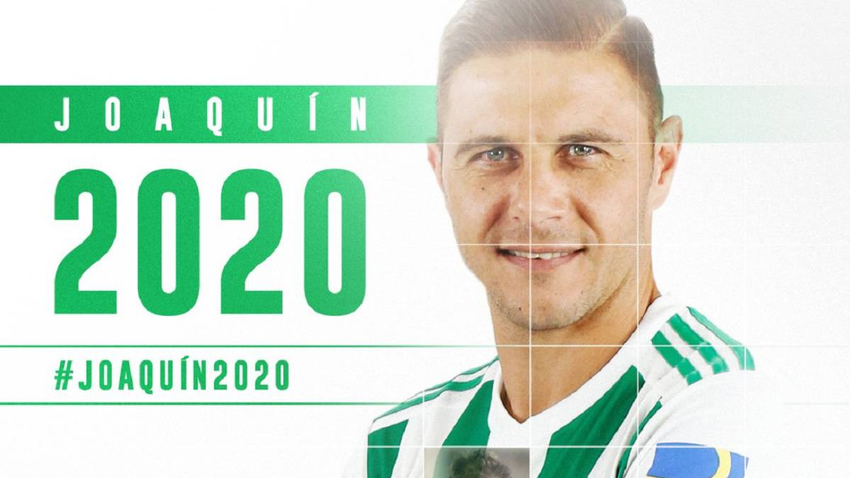 Official: Joaquín renews with Betis until June 2020