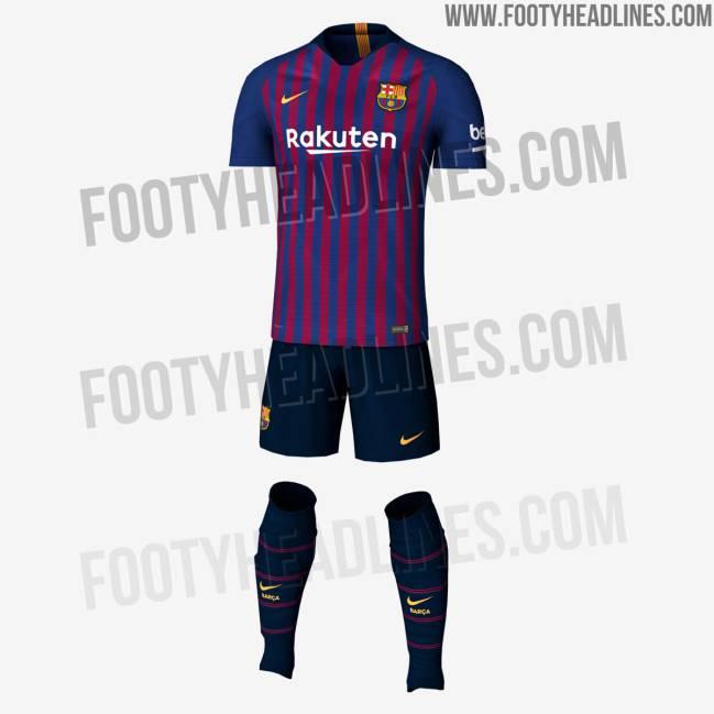 Posible diseño de la primera camiseta del FC Barcelona para la temporada  2018-2019. 7b043b49aeb26