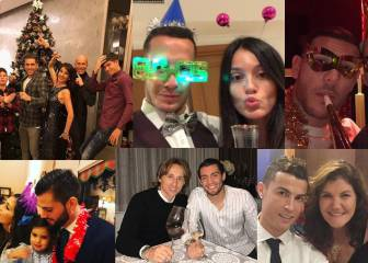 How Real Madrid's stars celebrated New Year 2018