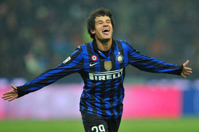 Coutinho celebra un gol con el Inter de Milán.