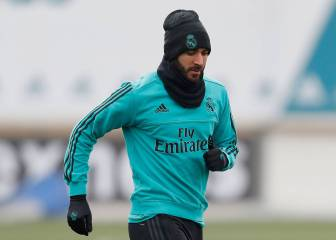 Benzema back working with the ball and nearing return
