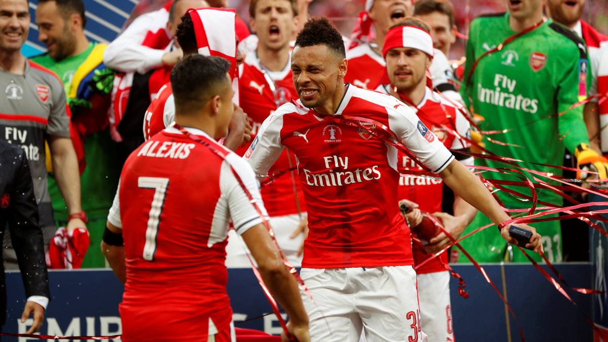 Coquelin, con el Arsenal.