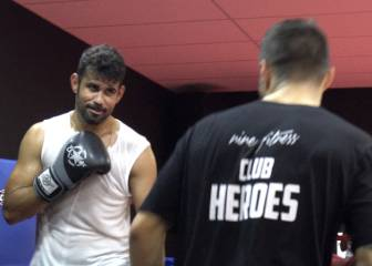 'Sugar Ray' Costa in the boxing ring at Fernando Torres' gym