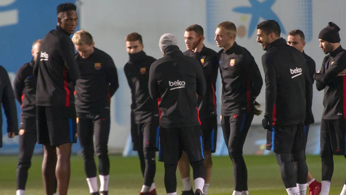 يبتسم بعد 0-1 من مدريد في دورة برشلونة