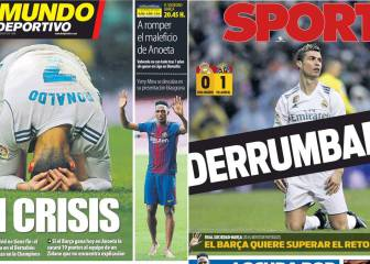Barcelona-based press revels in Real Madrid defeat to Villarreal