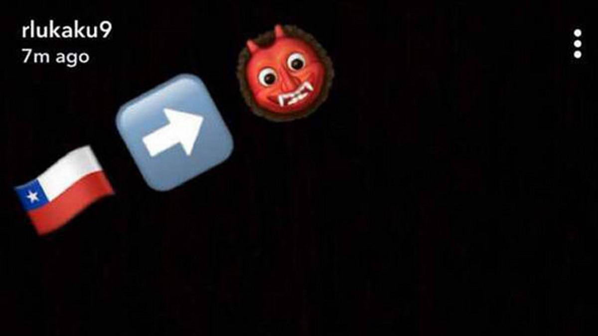 Snapchat de Lukaku anunciando el fichaje de Alexis.