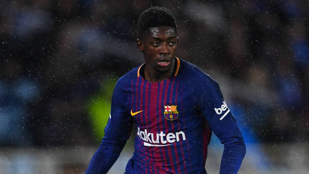 Dembélé out for three to four weeks with hamstring strain