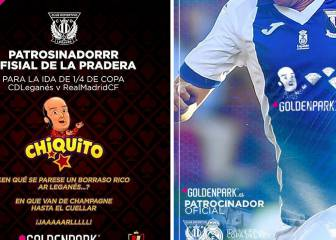 Chiquito to feature on Leganés' shirts against Real Madrid