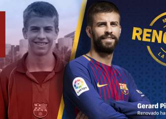 Piqué renews with Barça to 2022 on a €500m release clause