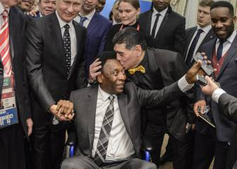 Pele hospitalised after collapsing with exhaustion