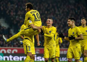 Neymar goal helps PSG extend Ligue 1 lead to 11 points
