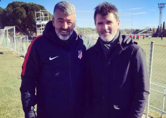 Roy Keane in Madrid to watch Simeone's Atletico train